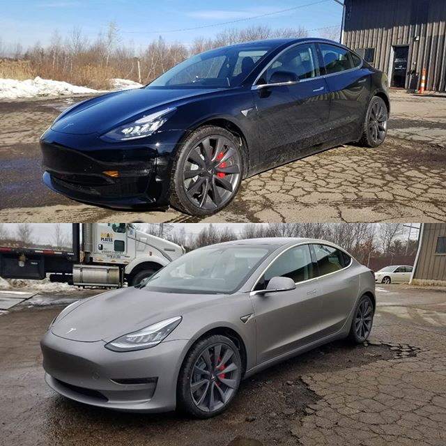 Tesla Model 3 in Space Grey