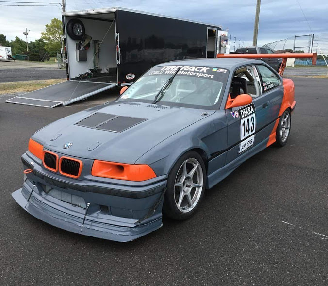 BMW E30 Racecar Custom Grey Orange