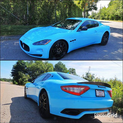 Instagram - #projectmaserati completed yesterday in Gloss Glacier Blue Halo EFX