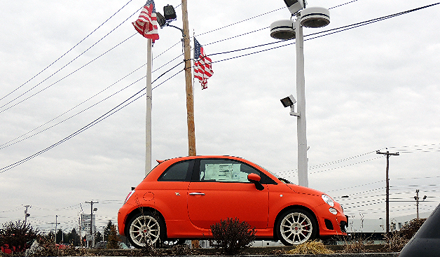 2014 Fiat Abarth in Koi Orange