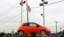 2014 Fiat Abarth in Koi Orange