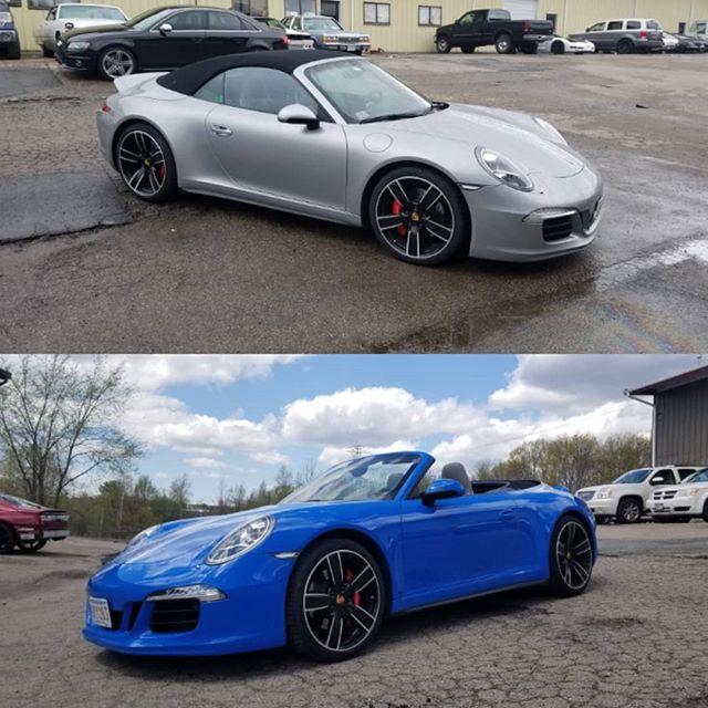 Porsche in Voodoo Blue