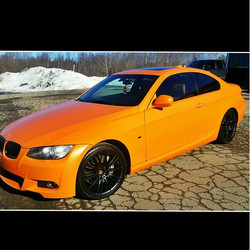 Instagram - Completed this BMW 335i in a custom mix of Halo EFX Agent Orange and