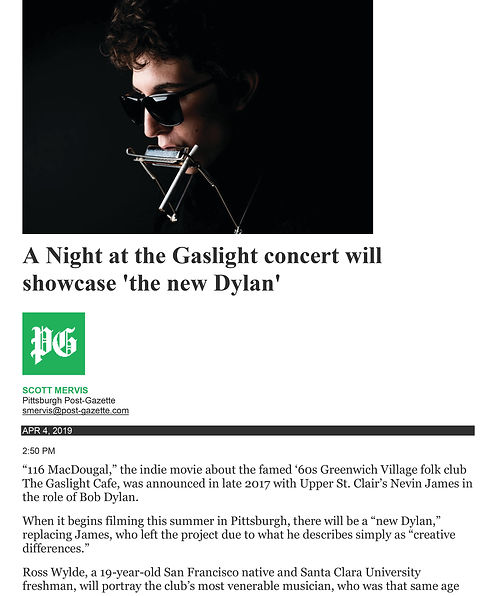 A Night at the Gaslight concert will sho