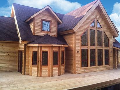 Cedar Log Home Mansion