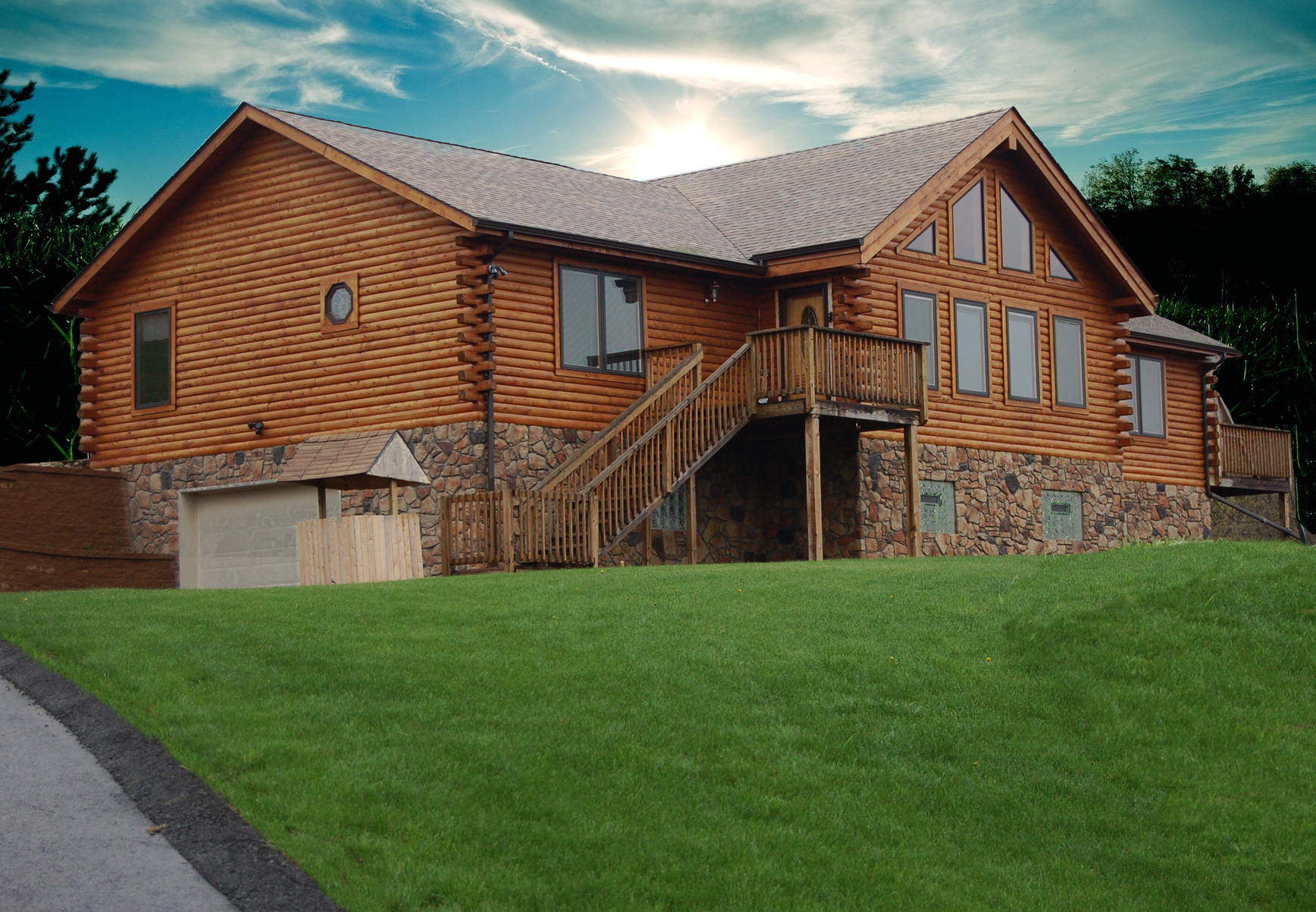 Presque Isle Log Home Plan