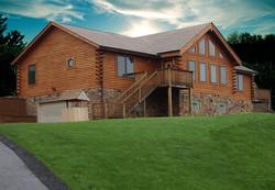 Presque Isle Log Home Plan