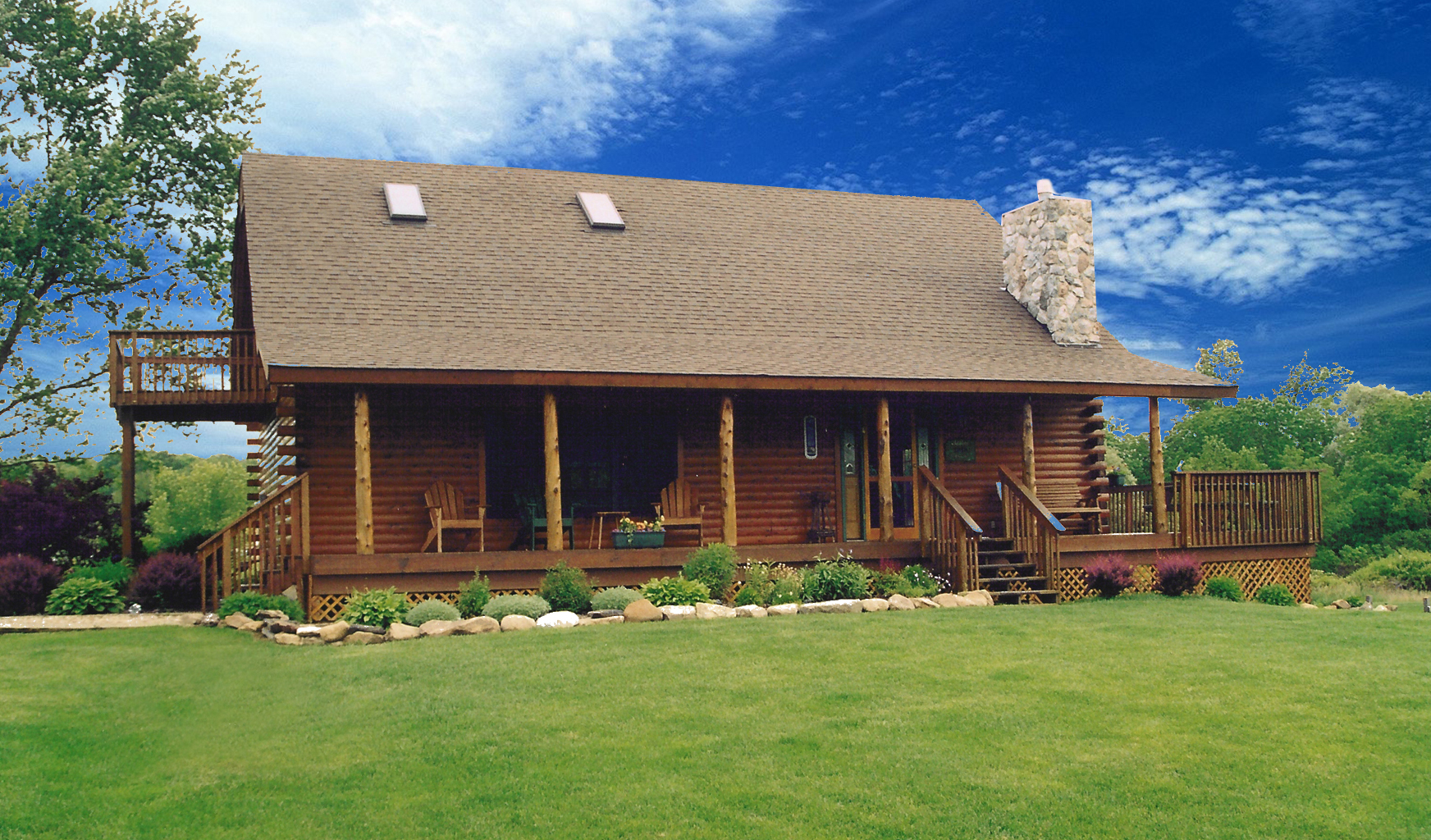 Hunter's Retreat Log Home Plan