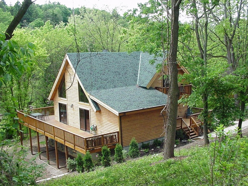 Brookside Log Home Plan