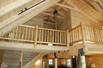 Log Home Railling by Cedar Direct Log Homes