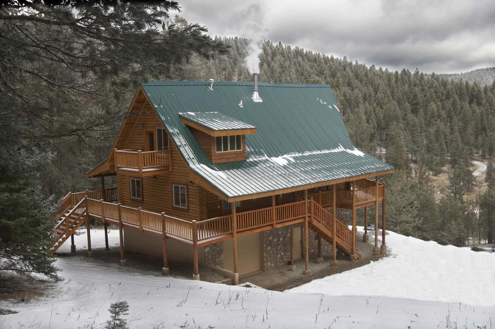 Countrydale Log Home Plan