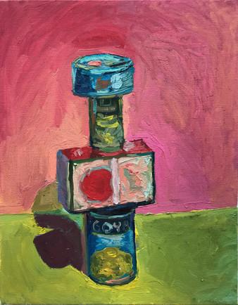 "Safe Friend  2020 oil on canvas 14""x11"" 35,6x28 cm"