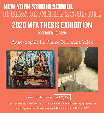 MFA Thesis Exhibition 2020_Anne-Sophie &