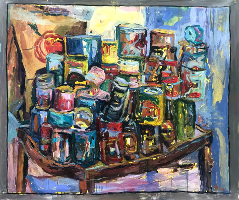 """Stack Riot 2020 oil on canvas 48""""x60"""" 122x153 cm"""