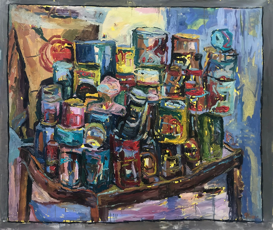 "Stack Riot 2020 oil on canvas 48""x60"" 122x153 cm"