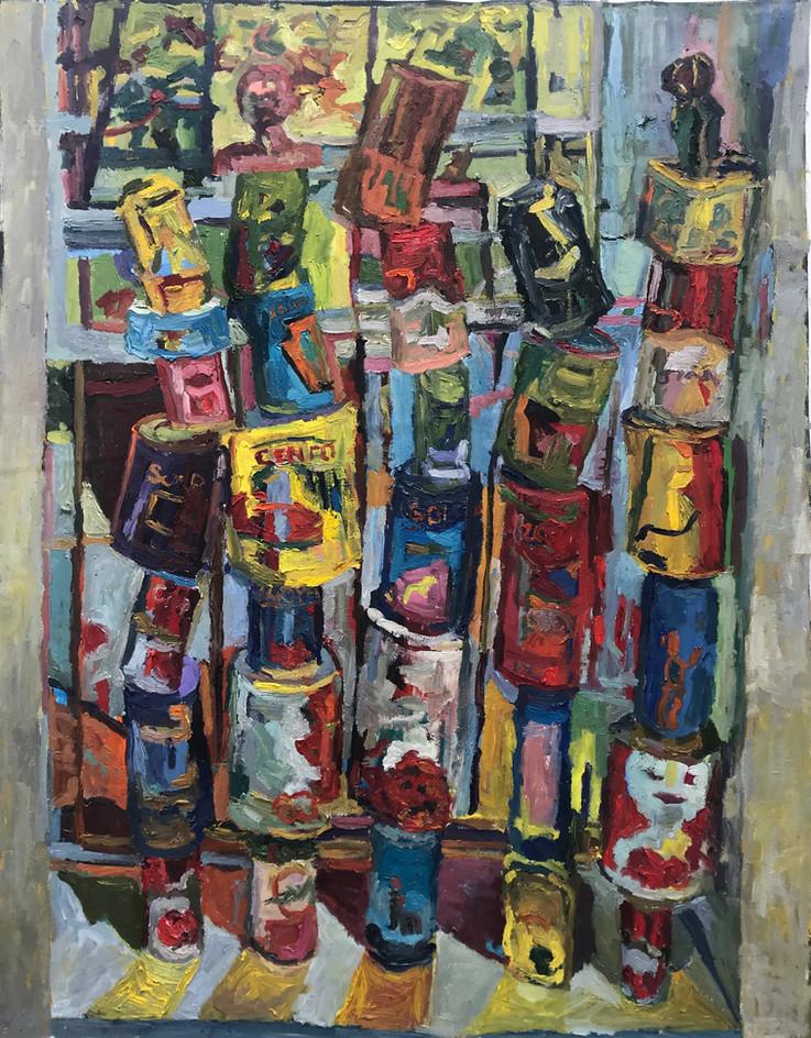 """Bancal 2020 oil on canvas 50""""x43"""" 127x109 cm"""