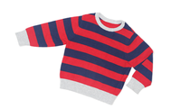 Red and blue striped sweater
