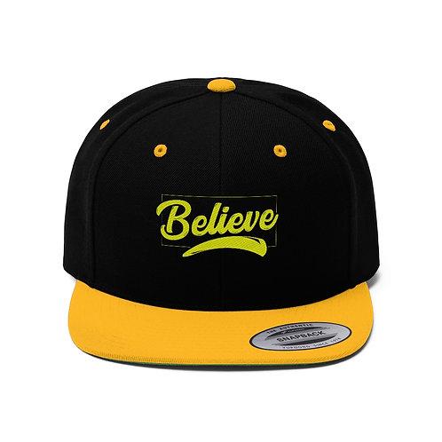 Believe - Unisex Flat Bill Hat