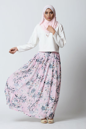 Pleated Skirt in Floral Prints