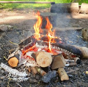 Campfire at Bashall Eaves