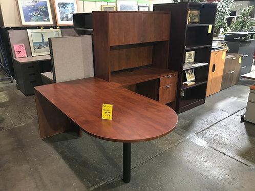 Pre-owned Cherry Peninsula L-Desk