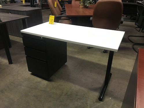 48x24 Office Source Desk White/Black