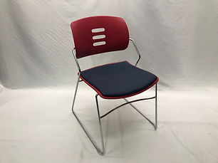 Safco Agiliti Stack Chair - Crimson/Ocean (60 Available)