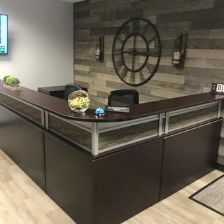 Office Source Borders Panels Reception Desk