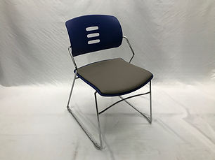 Safco Agiliti Stack Chair - Blue/Stratus (32 Available)