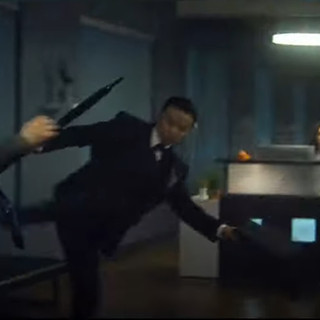 Our Office Source desk was used in a movie! Escape Plan: The Extractors