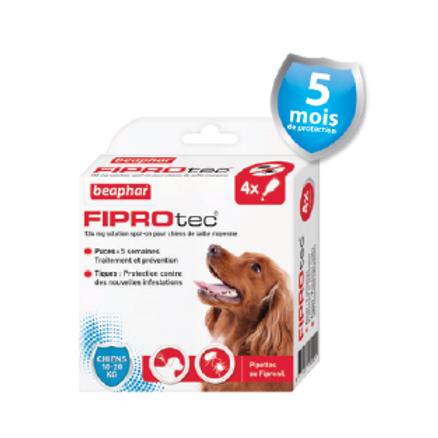 Fiprotec Pipettes FIPROTEC Antipuces et Anti-tiques Chien moyen 10-20kg