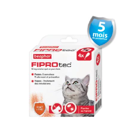 Fiprotec Pipettes FIPROTEC Antipuces et Anti-tiqueschats +1kg