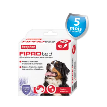 Fiprotec Pipettes fIPROTEC Antipuces et Anti-tiques Très Grand Chien40-60kg