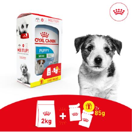 Royal Canin MINI PUPPY Pack Bi-Nutrition 2kg