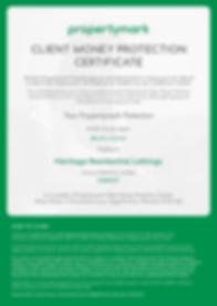 Client Money Protection - Security Certi