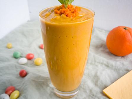 Wortel-sinaasappel smoothie