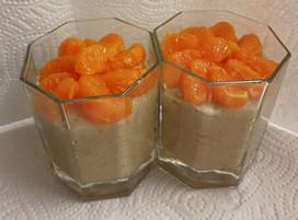 Griesmeelpap met mandarijn