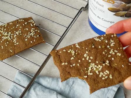 Vegan proteïne crackers