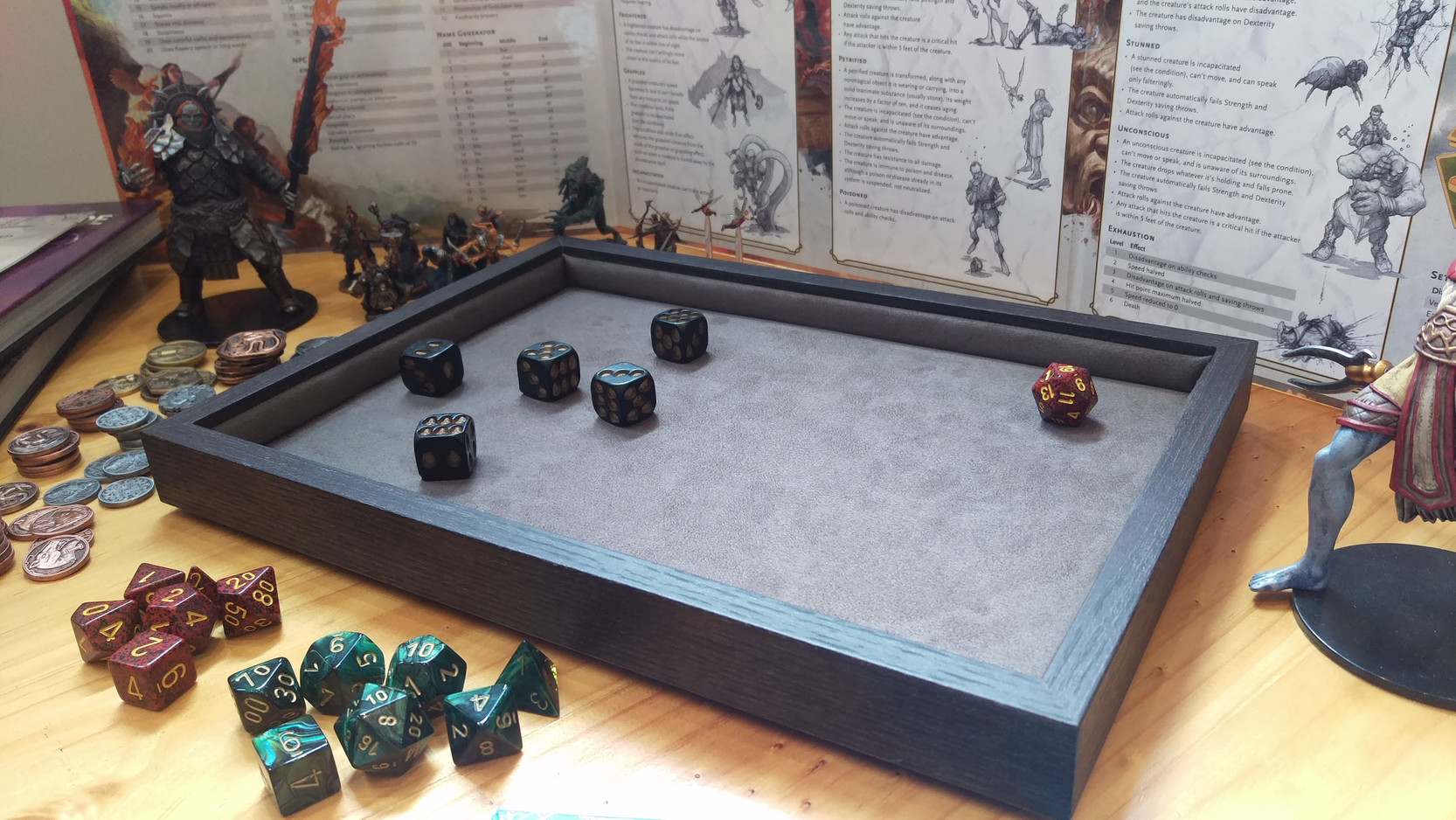 Premium Stealth Dice Tray - Large