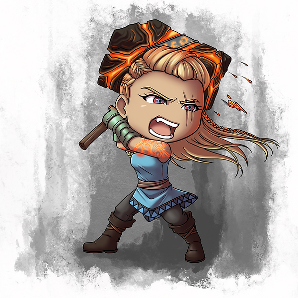 Chibi Caelynn Final - With Background.PN