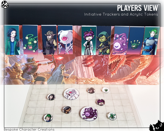 Acrylic Tokens and Initiative Trackers PV
