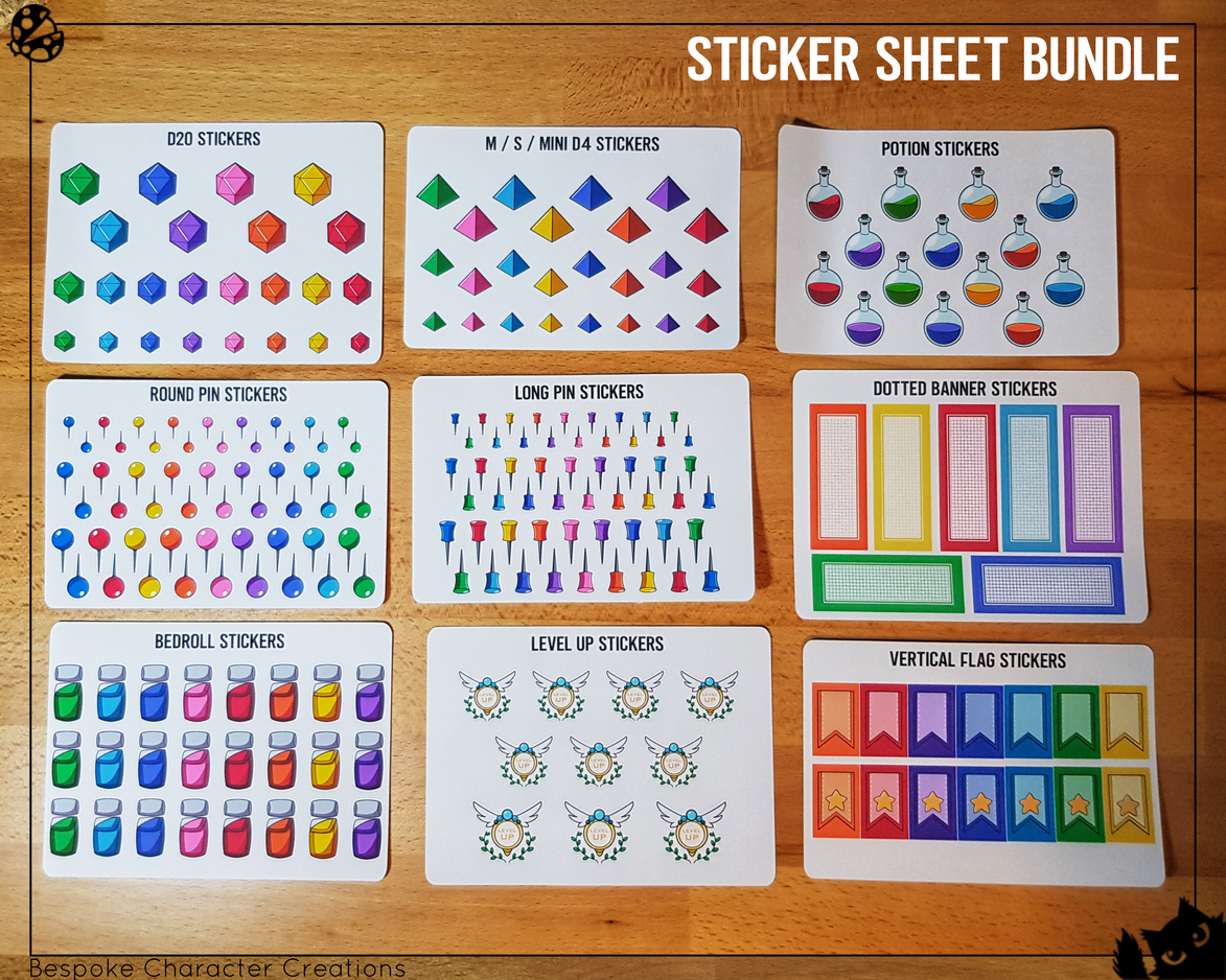 Sticker Sheet Bundle