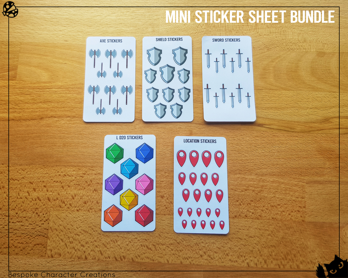 Mini Sticker Sheet Bundle