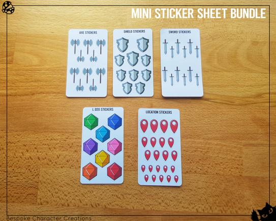 Mini Sticker Sheet Bundle