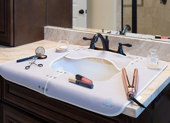 SPLASHPAD® Bathroom Sink Splash Guard - Gray