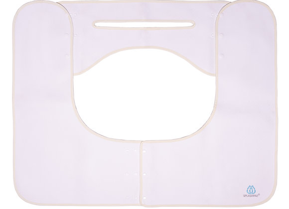 SPLASHPAD Bathroom Sink Splash Guard in White