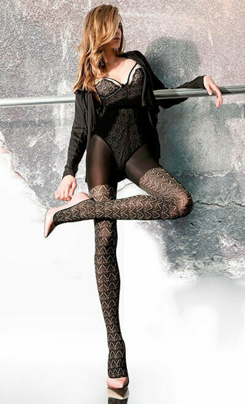 photo kuviolliset sukkahousut Gabriella
