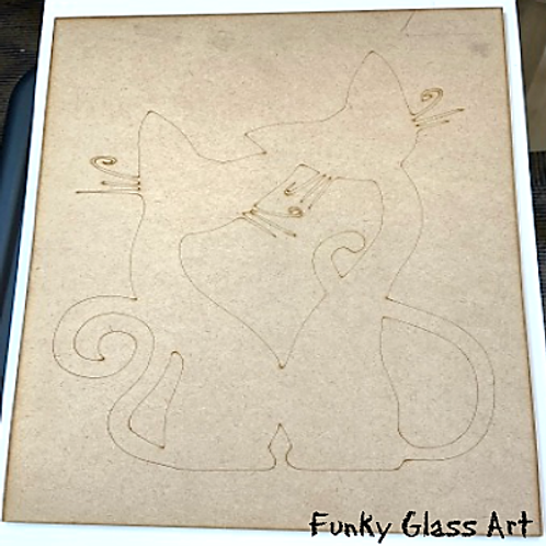 Purring Cats Engraved Base