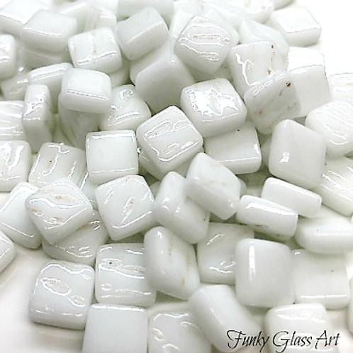 Glass Squares 8x8mm - White