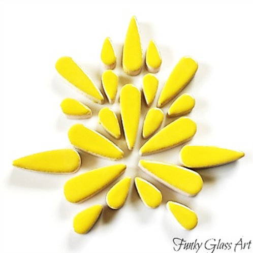 Ceramic Teardrops - Yellow 50gms